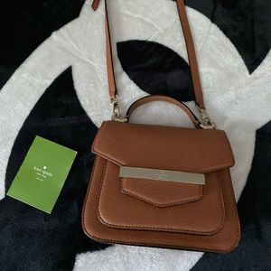Kate spade cognac crossbody or hand bag leather